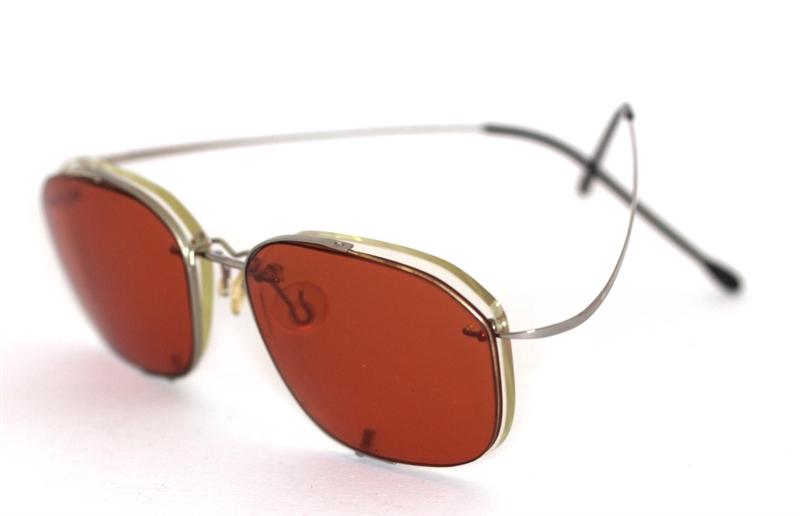 schanierlose brille mit sonnenbrillenaufsatz silber sun. Black Bedroom Furniture Sets. Home Design Ideas