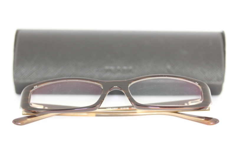 prada vpr08m 7qo 1o1 brille braun beige glasses lunettes fassung ebay. Black Bedroom Furniture Sets. Home Design Ideas