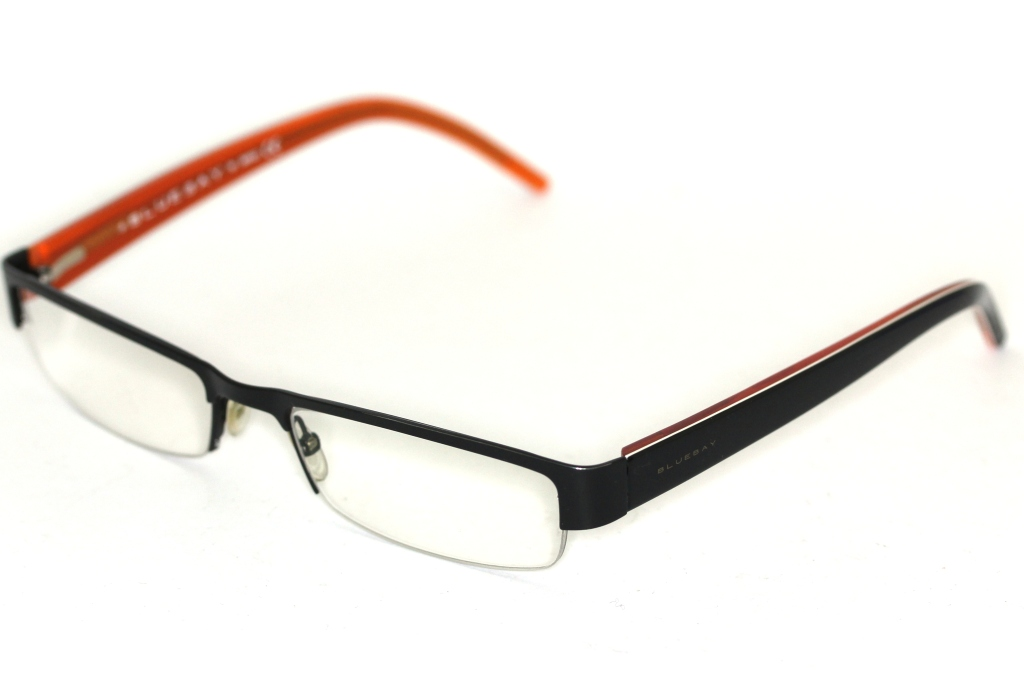 Bluebay by Safilo B&B 605 FRU Brille Schwarz/Orange glasses lunettes ...